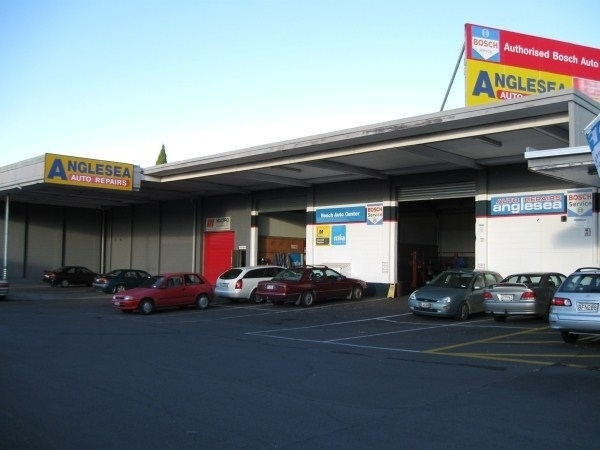Photo of a comercial factory building which has been washed by Ewash.